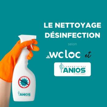 Anios, notre partenaire pour le nettoyage désinfection de vos sanitaires